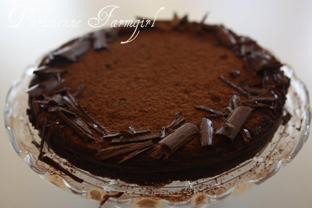 Today in the Kitchen – Flourless Chocolate Cake/ Tarte au Chocolat