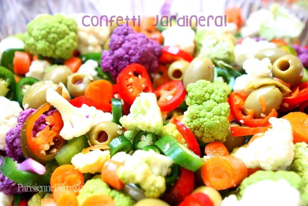 Today in the Kitchen -Confetti Jardinera!  & F.F. Update!