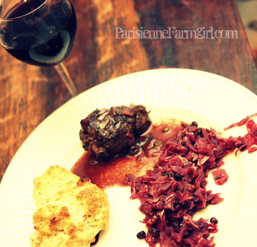 Today in the Kitchen… Venison with Red Wine Sauce