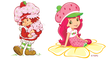 Strawberry Shortcake in the 1980s and in the 2000s