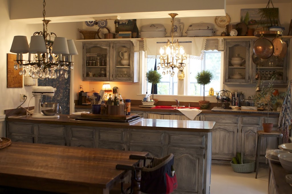 wide view of French Country Kitchen