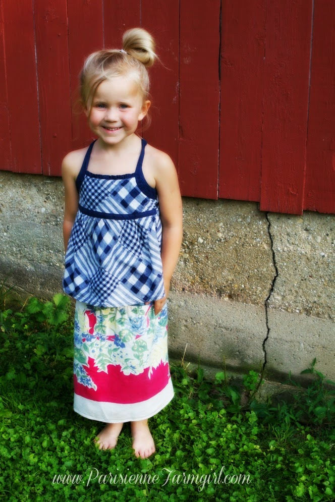 Tablecloth Jean Skirt Tutorial