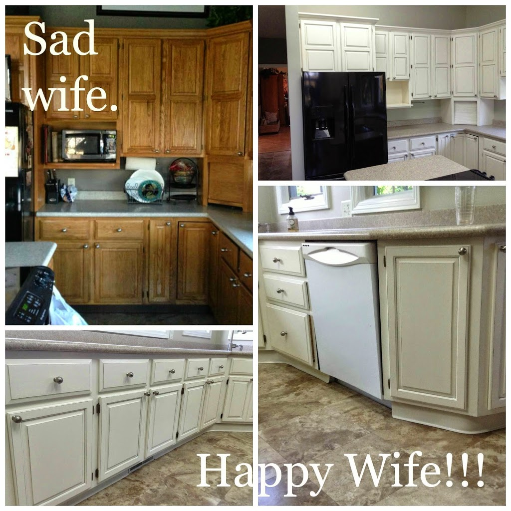 Basic Distressing Technique: Sad wife. Happy Wife!!!