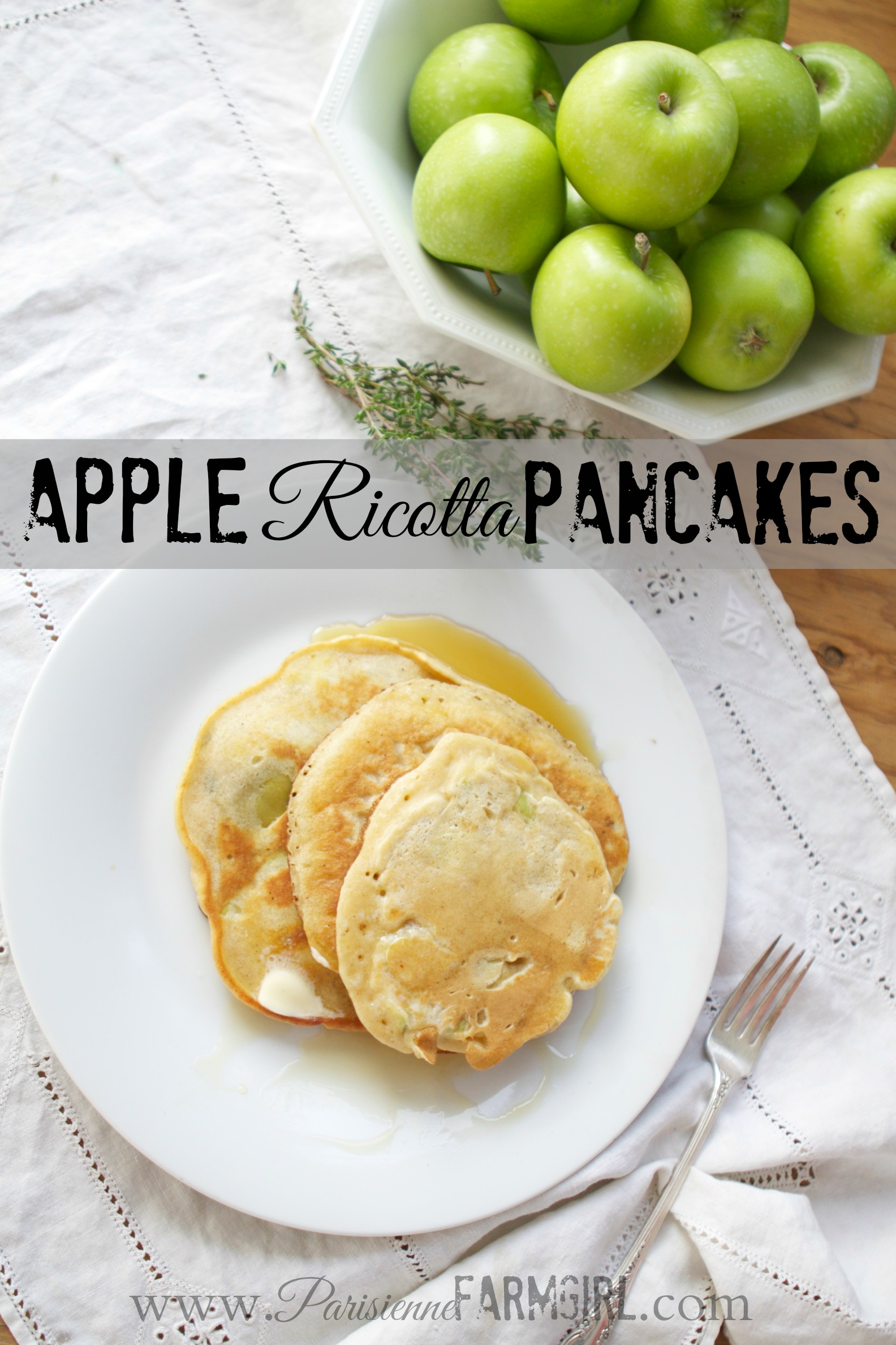 Apple Ricotta Pancake Recipe (With Homemade Ricotta Cheese!)