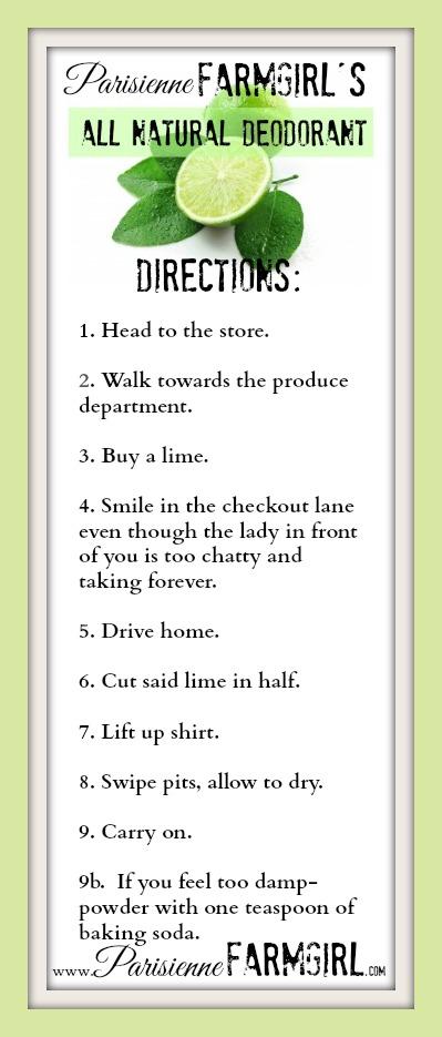 Easy Deodorant Recipe!.
