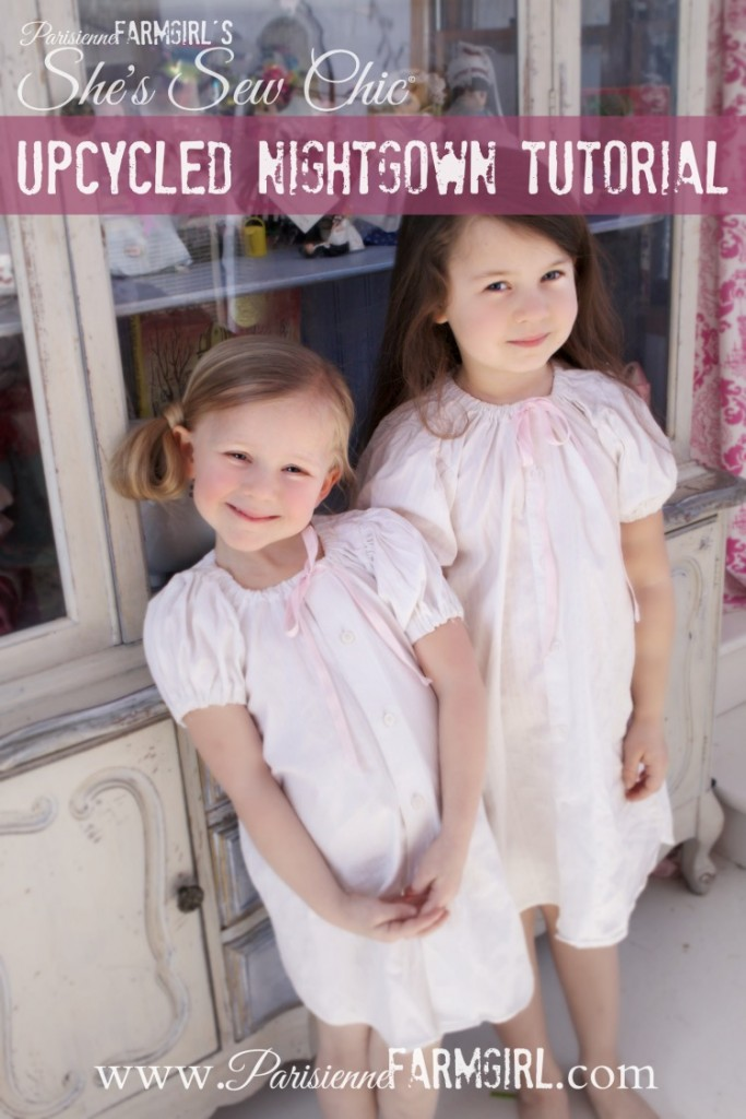 Upcycled nightgown tutorial