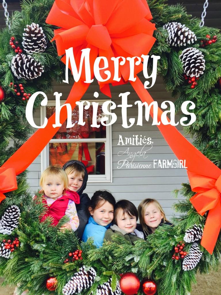 Merry Christmas! Amitiés, Angela Parisienne Farmgirl