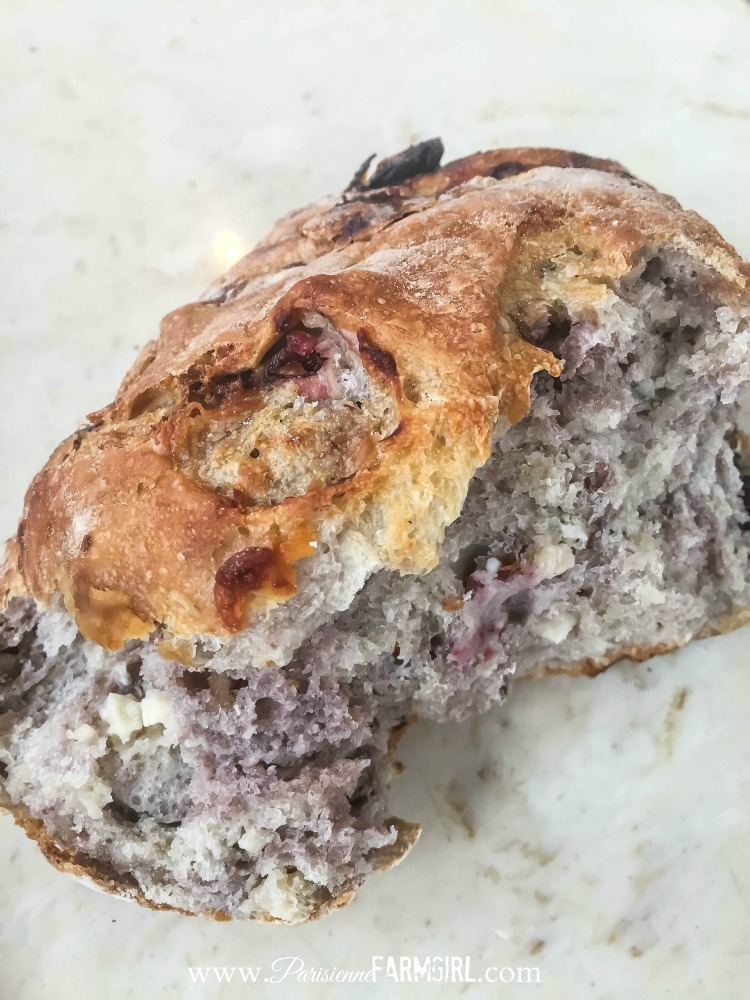 Cranberry Bread with Blue Cheese and Walnuts