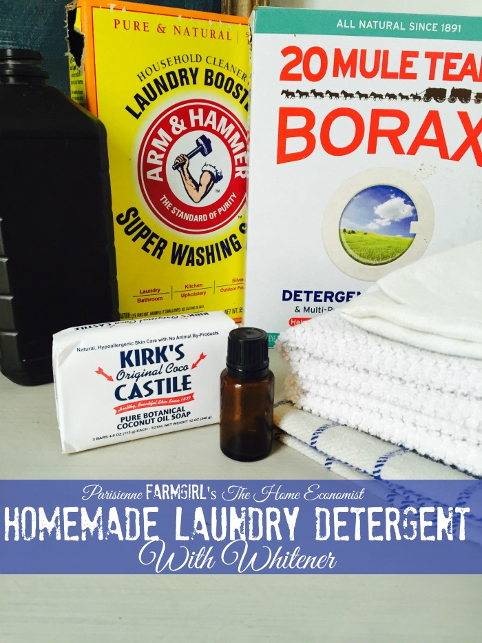 The Home Economist: Detergent with Whitener Recipe
