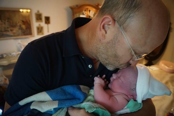 Homebirth Baby Joel and dad