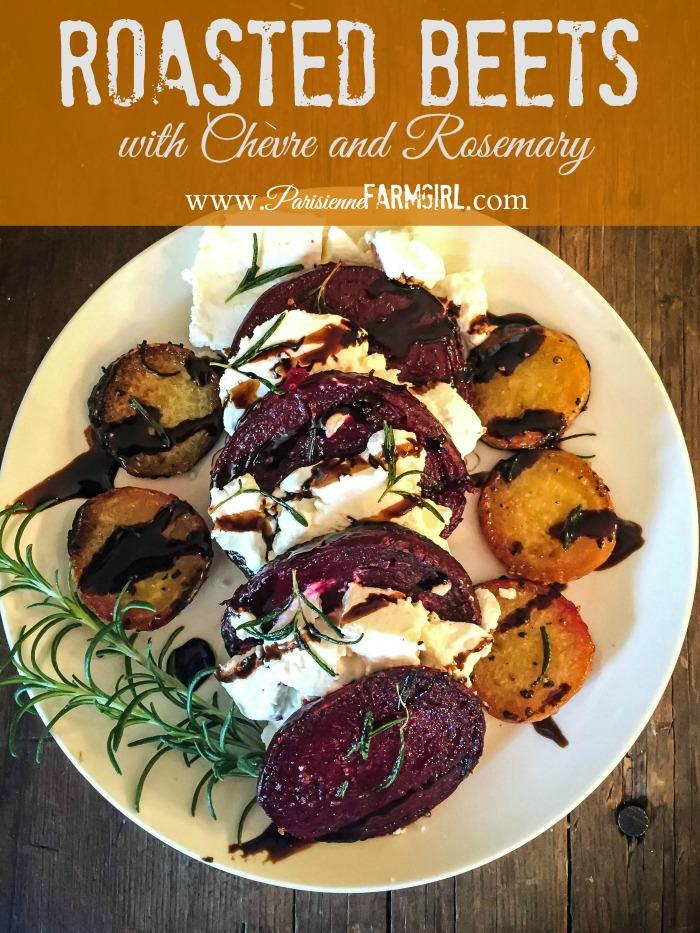 Roasted Beets with Goat Cheese and Rosemary