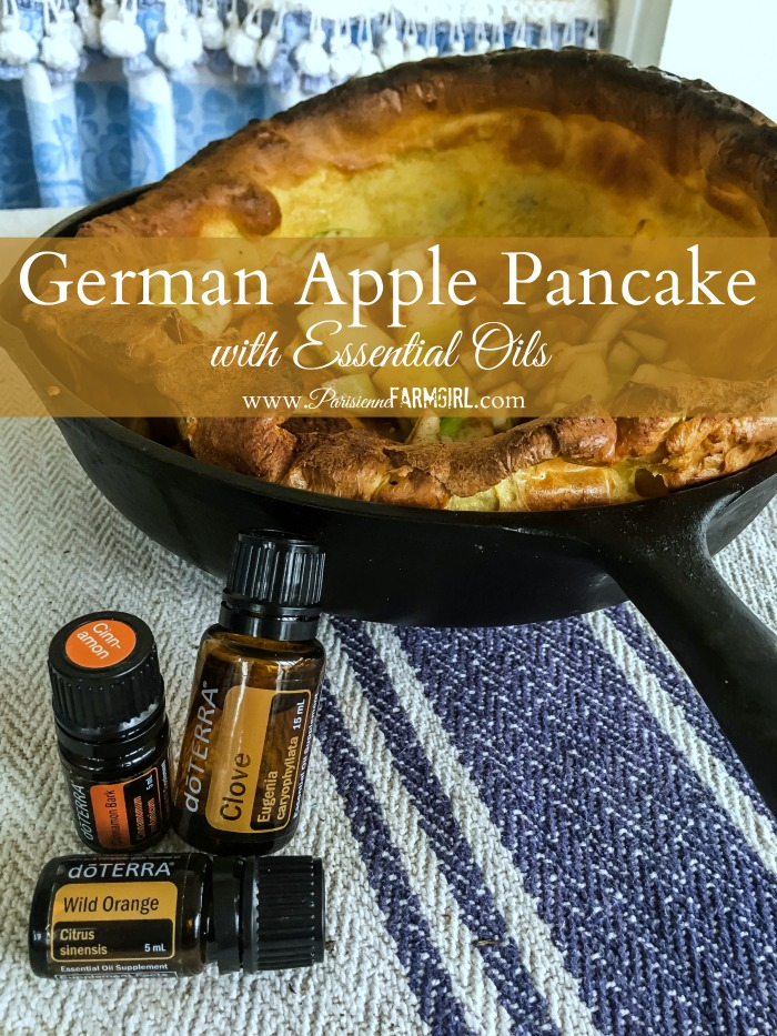 German Apple Pancake with Essential Oils