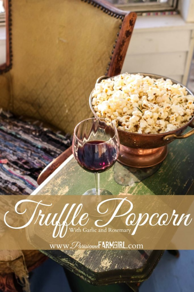 Truffle Popcorn With Garlic and Rosemary