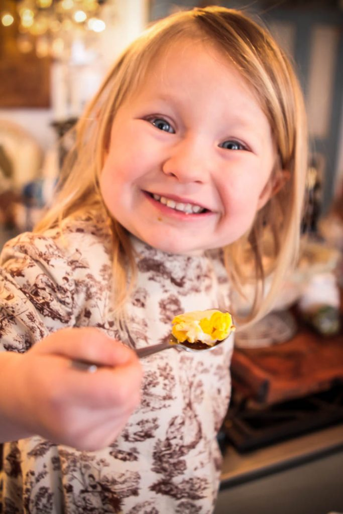 French Cooking for Children - Baked Curried Eggs