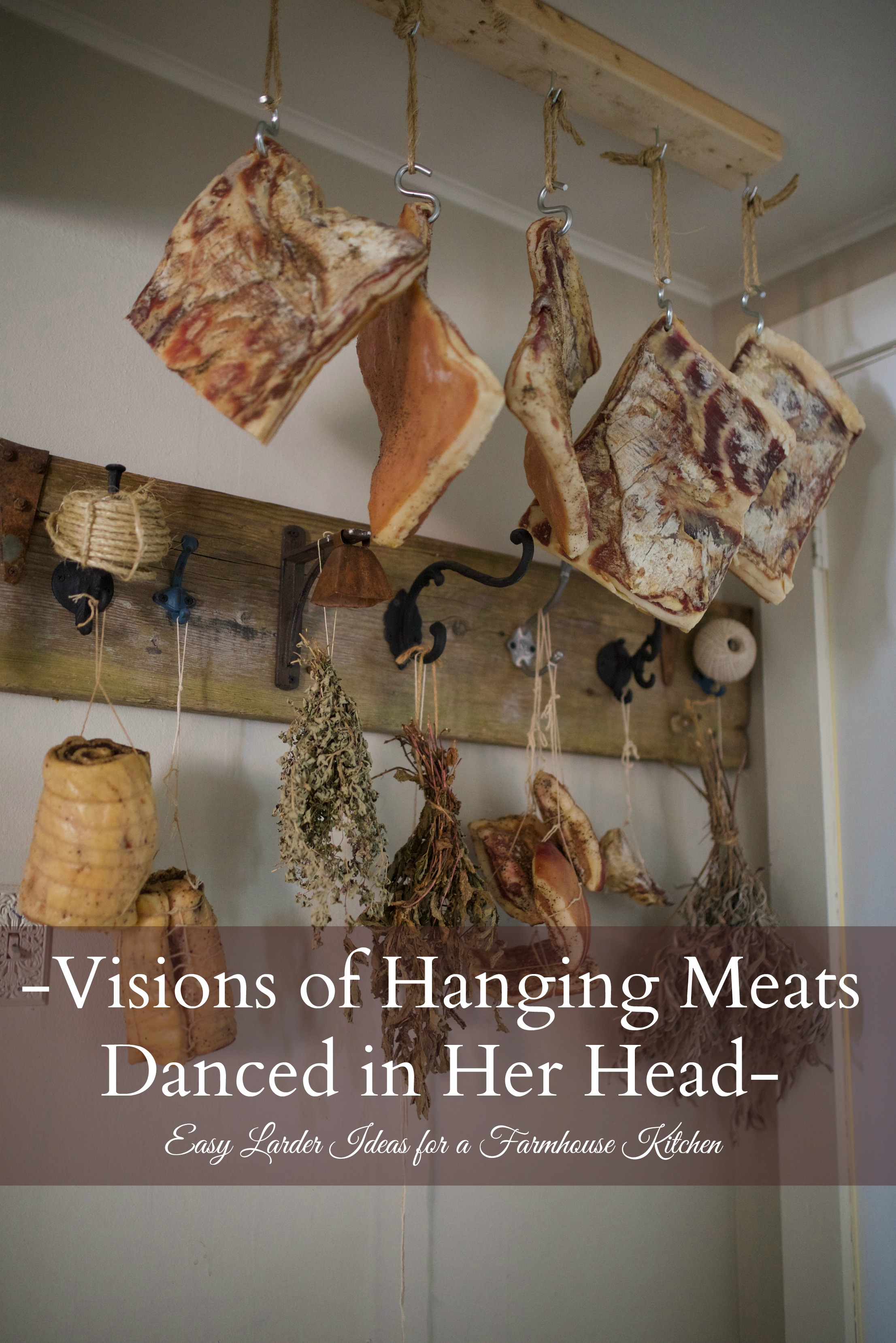 Visions of Hanging Meats Danced in Her Head